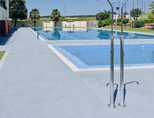 Reforma PAVIMENTO POROSO piscina municipal Prat de Lluçanès